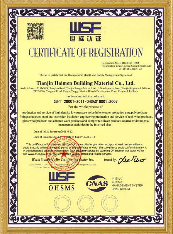ISO28001 Occupational Health And Safety Management System Certification