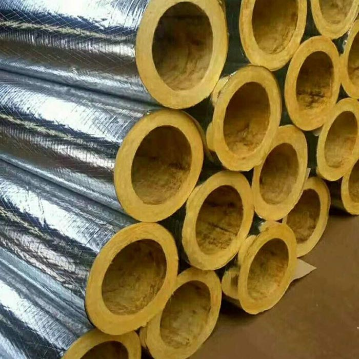 Glass wool pipe faced with aluminumfoil