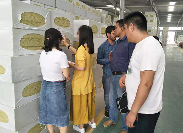 Bangladesh customers visit our rock wool factory on July,2019